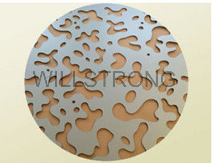 High Strength Perforated Aluminum Vineer Ceiling Tiles 3 - 6mm Thickness